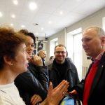 Conférence de presse : Jaroslaw Kurski et Jakob Iwaniuk, avec les journalistes des médias indépendants